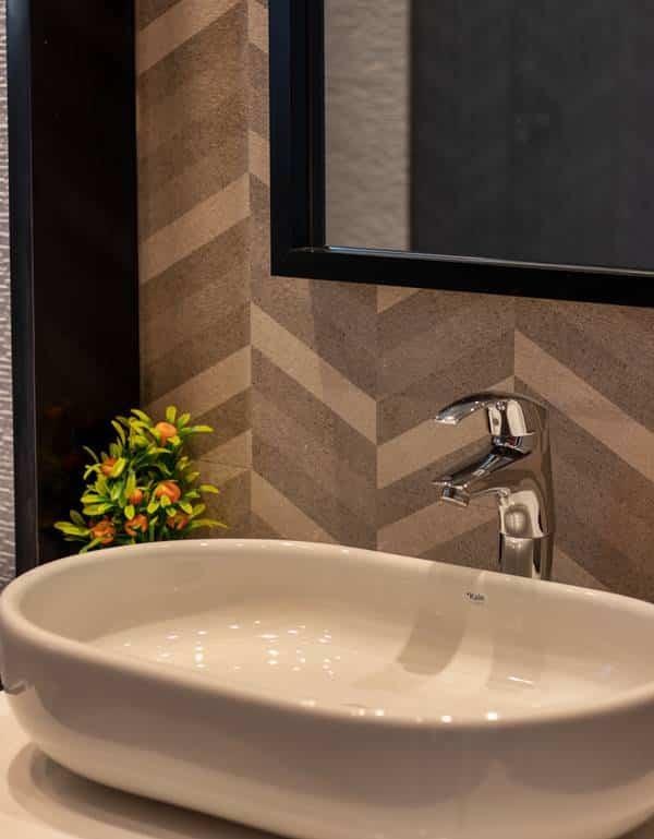 A completely custom designed bathroom